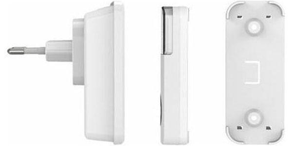 Solight 2x bezdrátový zvonek, do zásuvky, 200m, bílý, learning code3