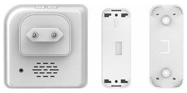 Solight 2x bezdrátový zvonek, do zásuvky, 200m, bílý, learning code5