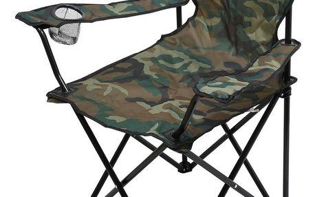 Cattara Kempingová skládací židle Bari army, 49 x 39 x 84 cm