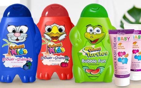 Balíčky pro děti: šampon, sprchový gel i krém