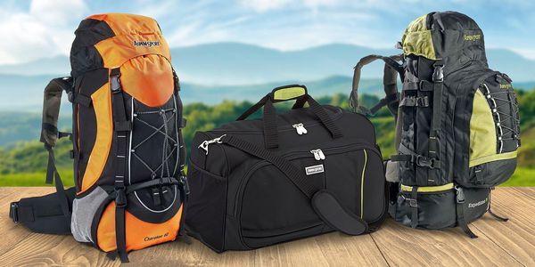 Sportovní taška, turistický batoh i pořádné krosny