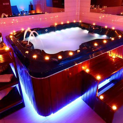 Privátní wellness: sauna a vířivka až pro 4 osoby