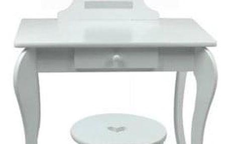 Dětský toaletní kosmetický stolek s bezpečným zrcadlem Elza , 71 x 50 x 108 cm