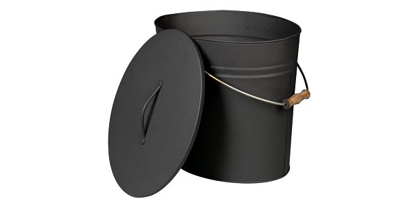 Lienbacher Oválná nádoba na popel s víkem, 24 l, antracit
