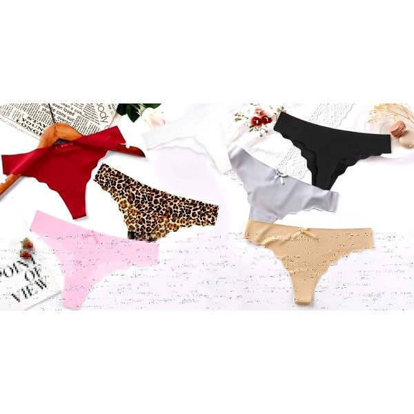 Bezešvá dámská tanga: černá, bílá i se vzorem