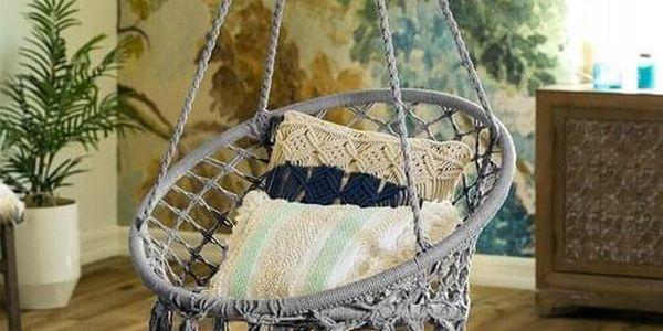 Domarex Závěsné houpací křeslo Luna tyrkysová, 60 x 80 x 120 cm3