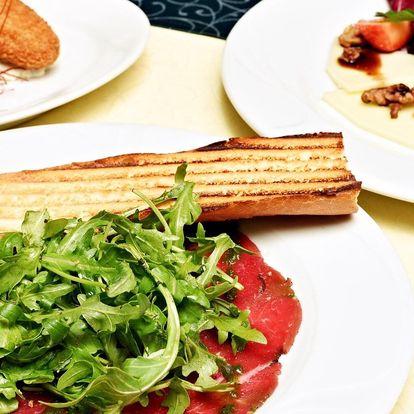 3chodové menu v Café Mozart naproti orloji