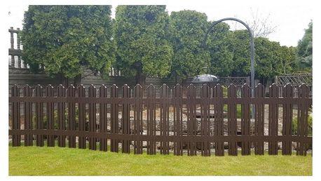 Aldotrade Zahradní plůtek Mega hnědá, 4,7 m