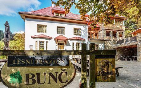 Lesní penzion Bunč v Chřibech: snídaně a pálenky