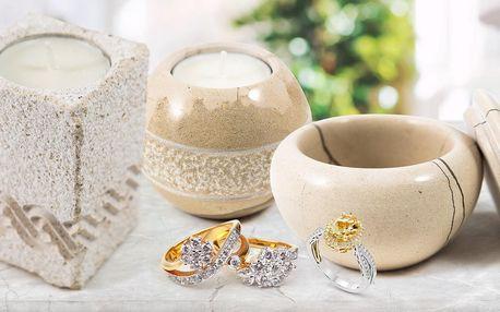 Ruční práce: svícny a šperkovnice z bračského mramoru