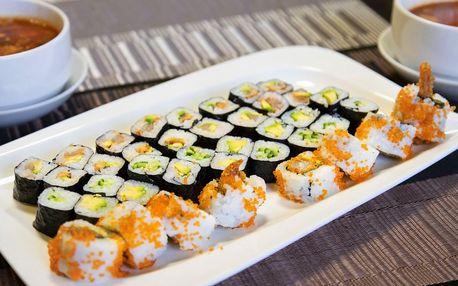Asijská hostina: 48 kousků sushi a 2 polévky