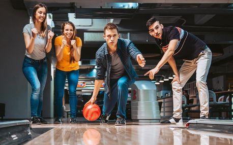 Bowling pro partu až 8 hráčů: 60 nebo 120 min.