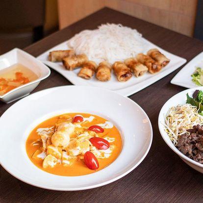 Exotické dobroty: hlavní jídlo i kuřecí curry dle výběru