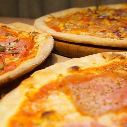 2 velké pizzy: průměr 40 cm, mnoho druhů