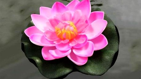 Umělé květy leknínu do jezírka SOL1