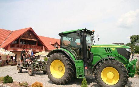G - Zážitkový 3 denní pobyt s jízdou na koni či v zemědělském stroji pro DVA v Chrastavě