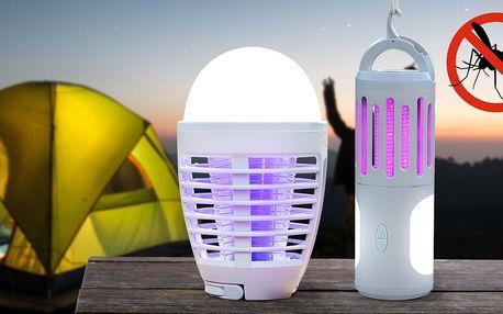 Přenosné repelentní LED lampy nejen na kempování