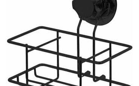 Malá polička na zeď Compactor Bestlock Black s přísavkou - bez vrtání, nosnost až 6 kg