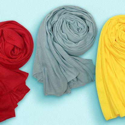 Velké příjemné šátky ke každému outfitu: 15 barev