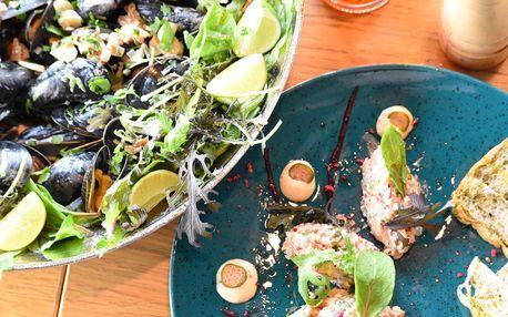 Středomořské degustační menu se slávkami pro 2