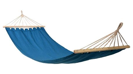 Závěsná houpačka Hammock, polybavlna, modrá