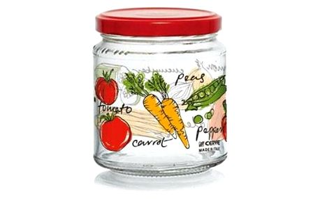 Zavařovací sklenice s víčkem ZELENINA 300 ml, 6 ks