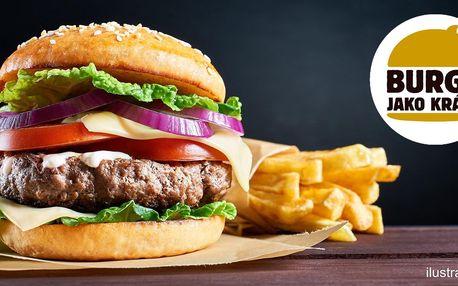 Burger, hranolky a tatarka pro 1 i 2 os.