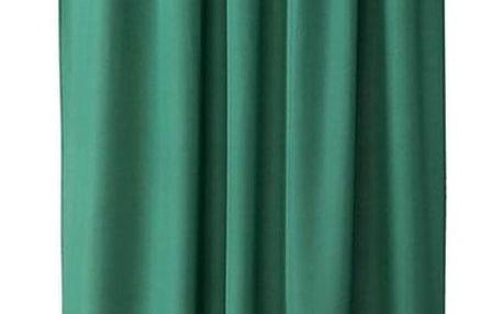 AmeliaHome Závěs Oxford Pleat tmavě zelená, 140 x 250 cm