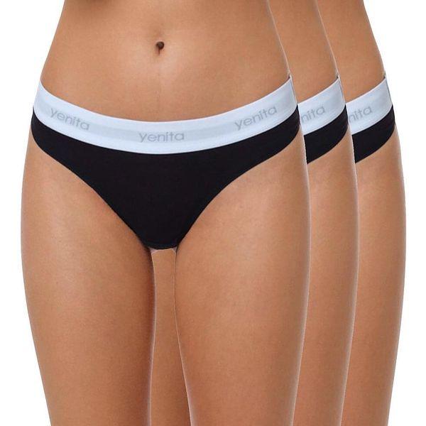 Bezešvé kalhotky - vyšší pas | Velikost: L | Černá2