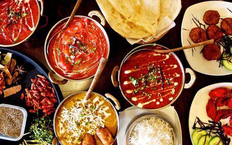 3chodová indická hostina pro 2 nebo 4 osoby