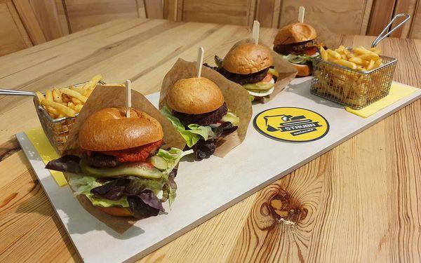 Burgerové degustační menu s hranolky2