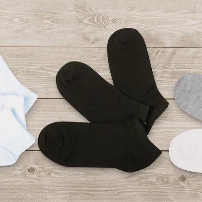 Dámské a pánské kotníčkové ponožky: 9 párů