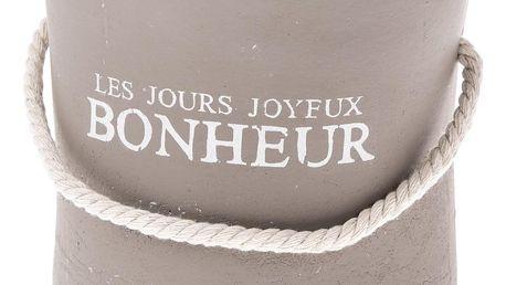 Keramický obal na květináč Bonheur hnědá, 15 cm