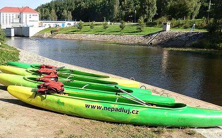 Půjčení kanoe či raftu na Vltavě, Lužnici či Otavě