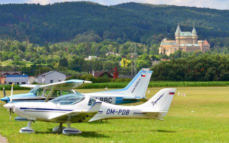 Poznávací lety Cessnou po Beskydech pro 3 osoby