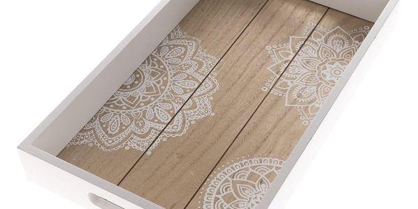 Dřevěný podnos Mandala, 40 x 24 x 5 cm