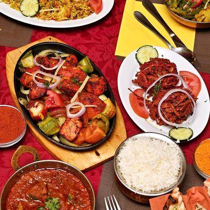Bohaté indické menu pro dva ve Vršovicích