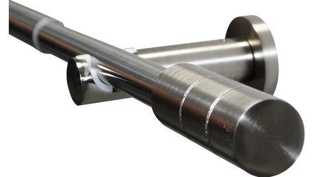 Gardinia Souprava záclonová roztažitelná KRETA 19/16 mm , 190 - 340 cm ušlechtilá ocel, 190 - 340 cm