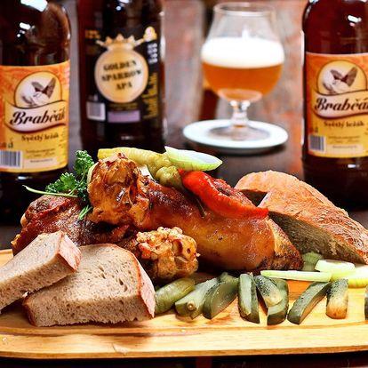 Prohlídka pivovaru s ochutnávkou piv i jídlem