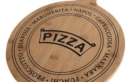 Servírovací bambusové prkénko Pizza, 40,5 x 31 x 1,5 cm