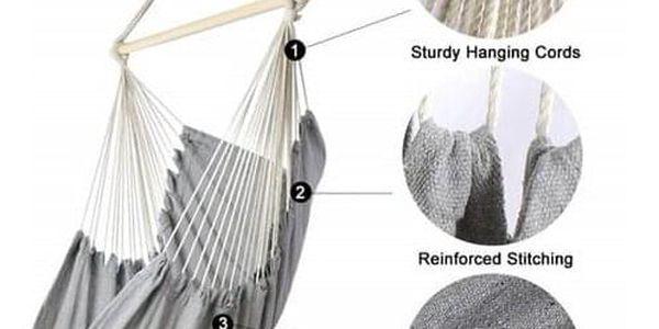 ISwing Závěsné houpací křeslo Grand, šedá, 120 x 150 x 130 cm2