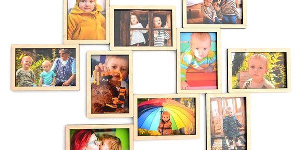 Fotorámeček na 4 fotografie (10×15 cm) | Modrá2