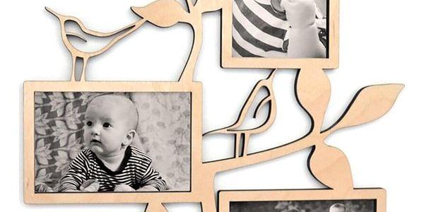 Fotorámeček na 4 fotografie (10×15 cm) | Modrá4
