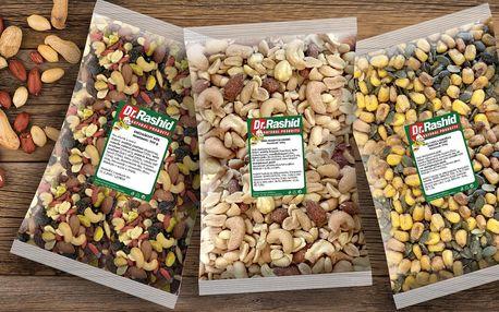 500g směsi ořechů a ovoce: natural i solené