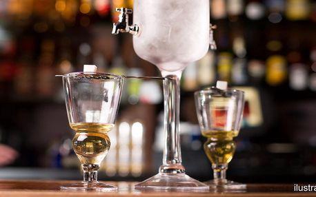 Degustace 4 druhů absinthů v ruin pubu v centru Prahy