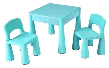 New Baby Dětská sada stolečku a židliček 3 ks, mátová