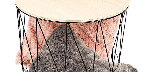 Odkládací stolek Lucan černá, 57 cm2