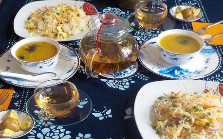Menu pro 2: litr čaje a sušenky či jídlo dle výběru