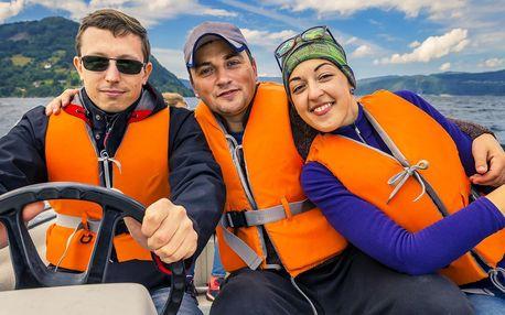 Až pro 6 osob: zapůjčení motorového člunu na Lipně