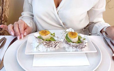Degustační šestichodové menu v krásné restauraci